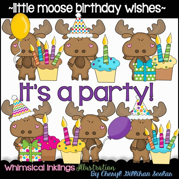 clipart for birthday wishes ; moose-clipart-birthday-13