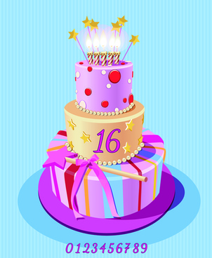 clipart images of birthday cakes ; vintage_birthday_cake_background_art_vector_544989