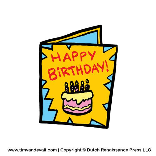 clipart of birthday cards ; birthday-card-clipart-drawings-pinterest-cards