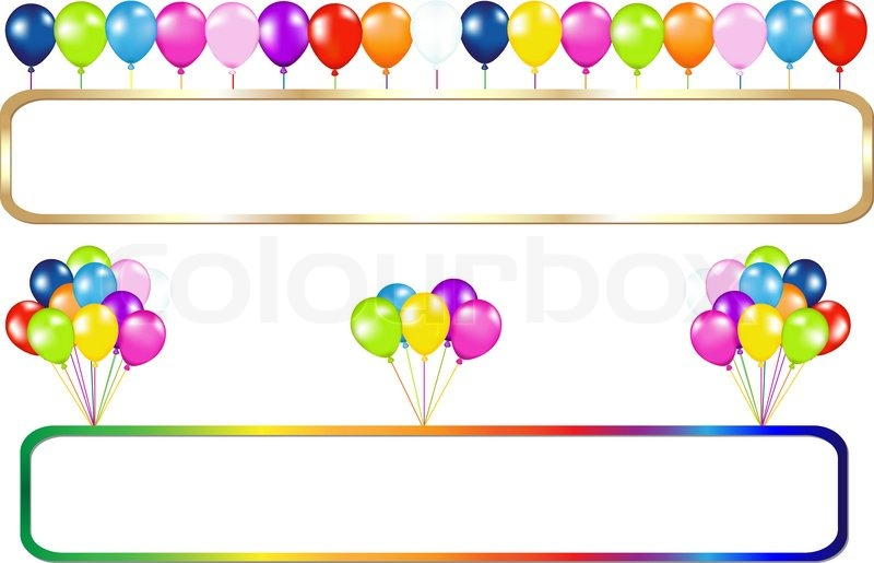 colorful birthday borders ; 800px_COLOURBOX3174217