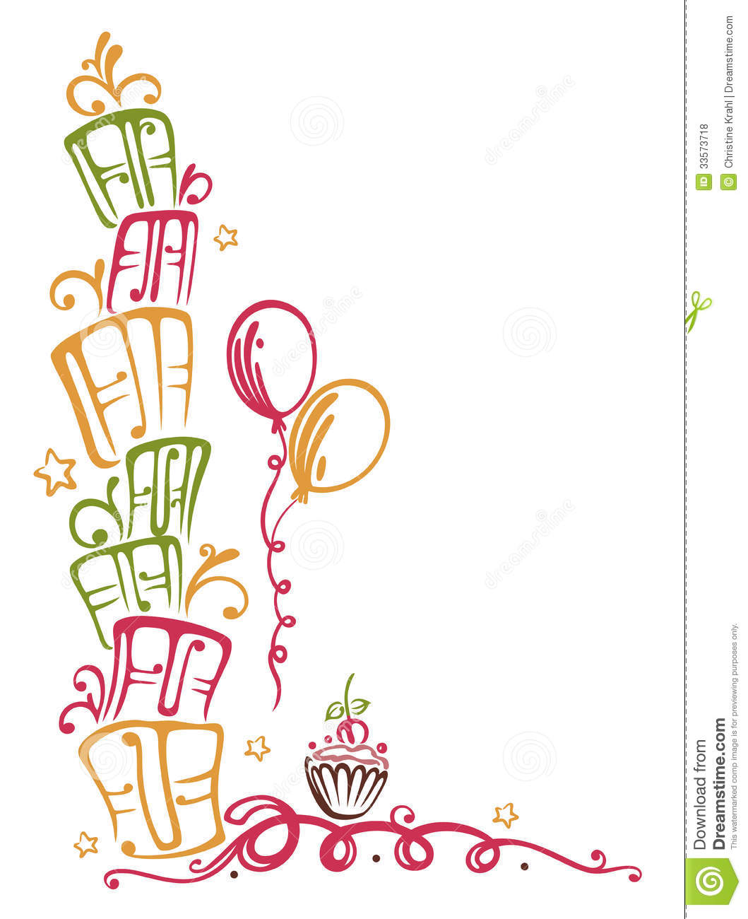 colorful birthday borders ; birthday-border-colorful-gifts-balloons-muffin-33573718