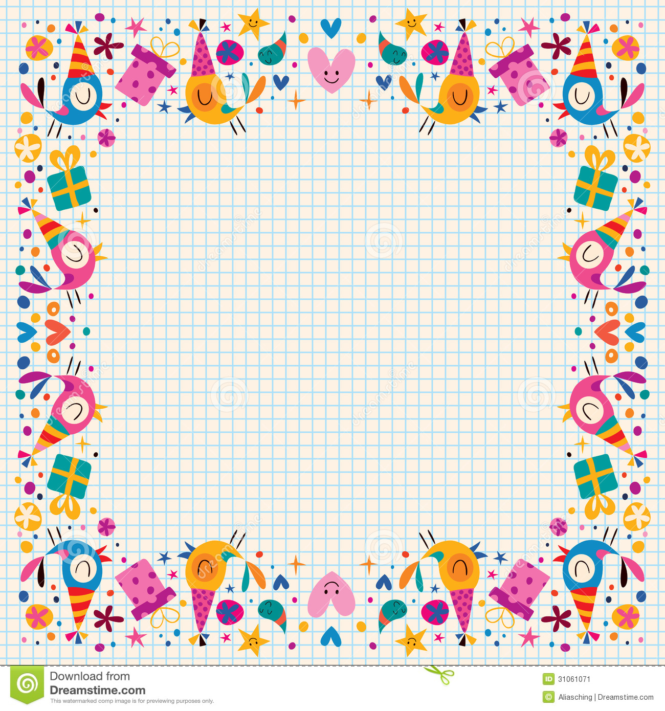 colorful birthday borders ; birthday-decorative-border-your-design-31061071