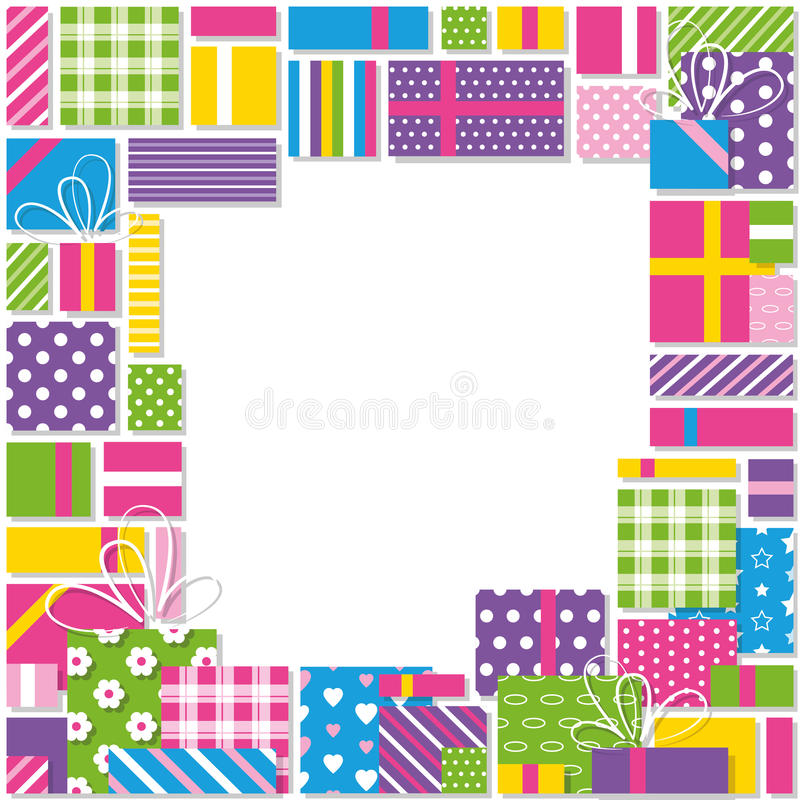 colorful birthday borders ; birthday-presents-border-illustration-gifts-collection-frame-bows-ribbons-colorful-patterned-wrapping-paper-white-47202778