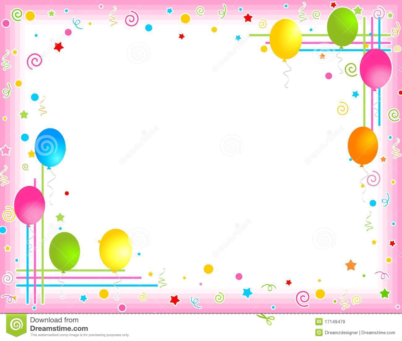 colorful birthday borders ; colorful-balloons-border-party-frame-17149479