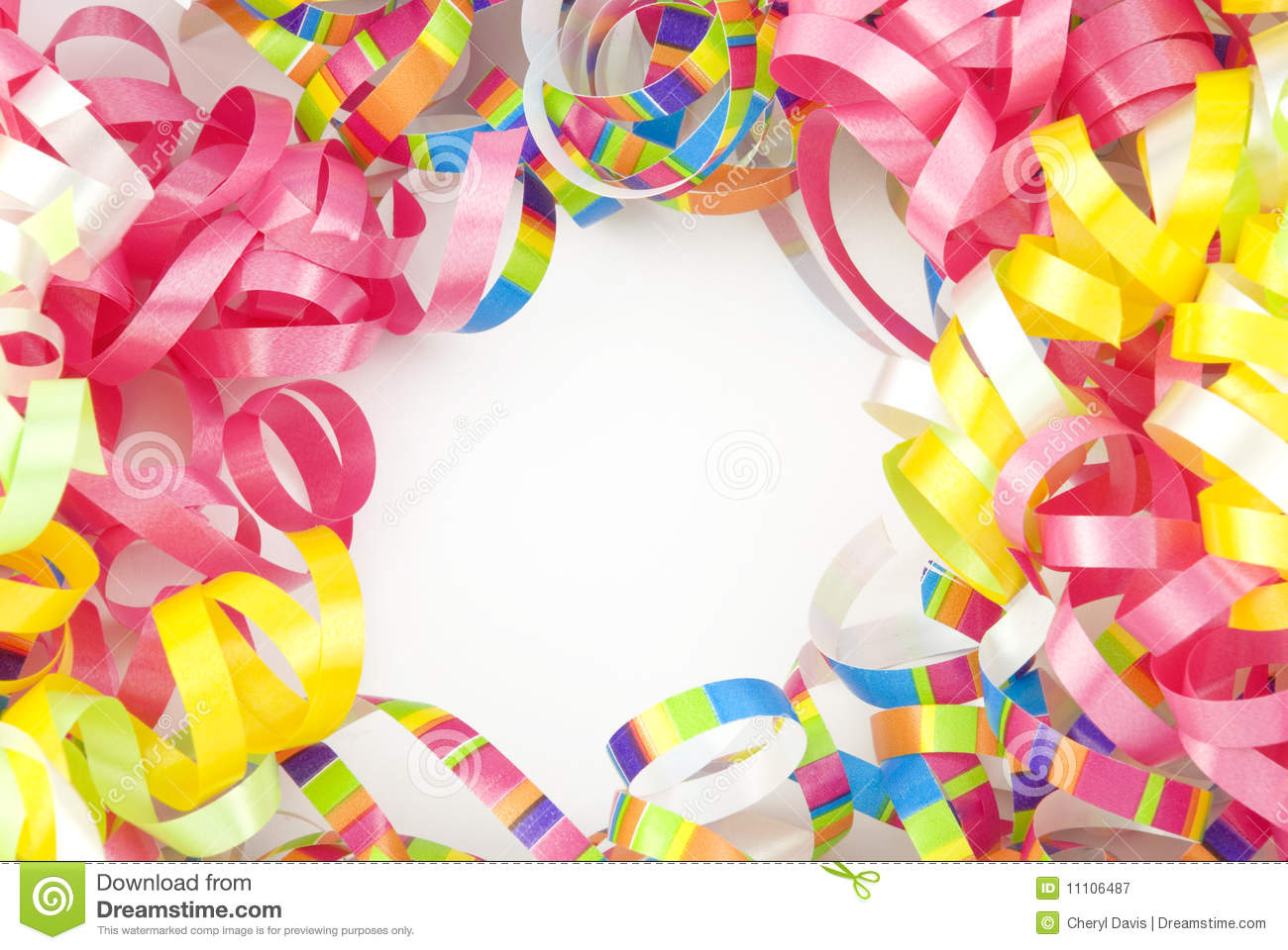 colorful birthday borders ; colorful-ribbon-border-copy-space-11106487