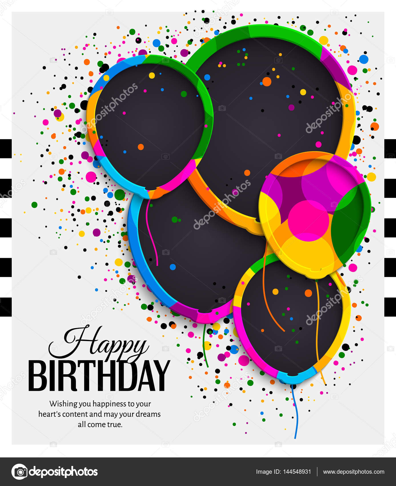 colorful birthday borders ; depositphotos_144548931-stock-illustration-happy-birthday-greeting-card-paper