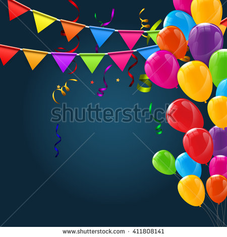 colorful birthday borders ; stock-vector-color-glossy-happy-birthday-balloons-banner-background-vector-illustration-411808141