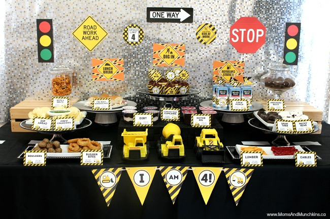 construction theme birthday banner ; construction-party-ideas-m