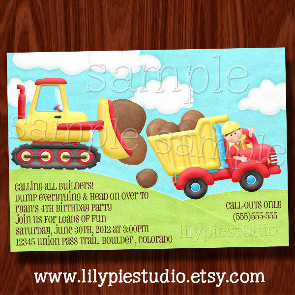 construction themed birthday party invitation wording ; 8e7c0ea4c9ae83117edd5b91c63fdb34