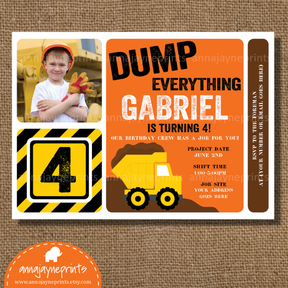 construction themed birthday party invitation wording ; Construction-Party-Invitations-detail-ideas-example-sample-design-cool-best