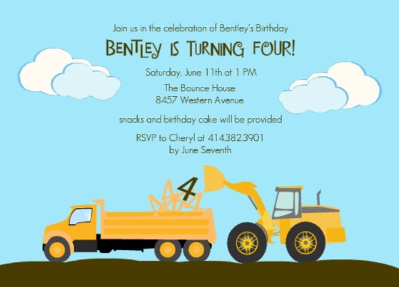 construction themed birthday party invitation wording ; Kids-construction-themed-party-invitation