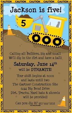 construction themed birthday party invitation wording ; b2909e02b4a22ecab9ae067c3b52e370--construction-party-invitations-construction-theme-party
