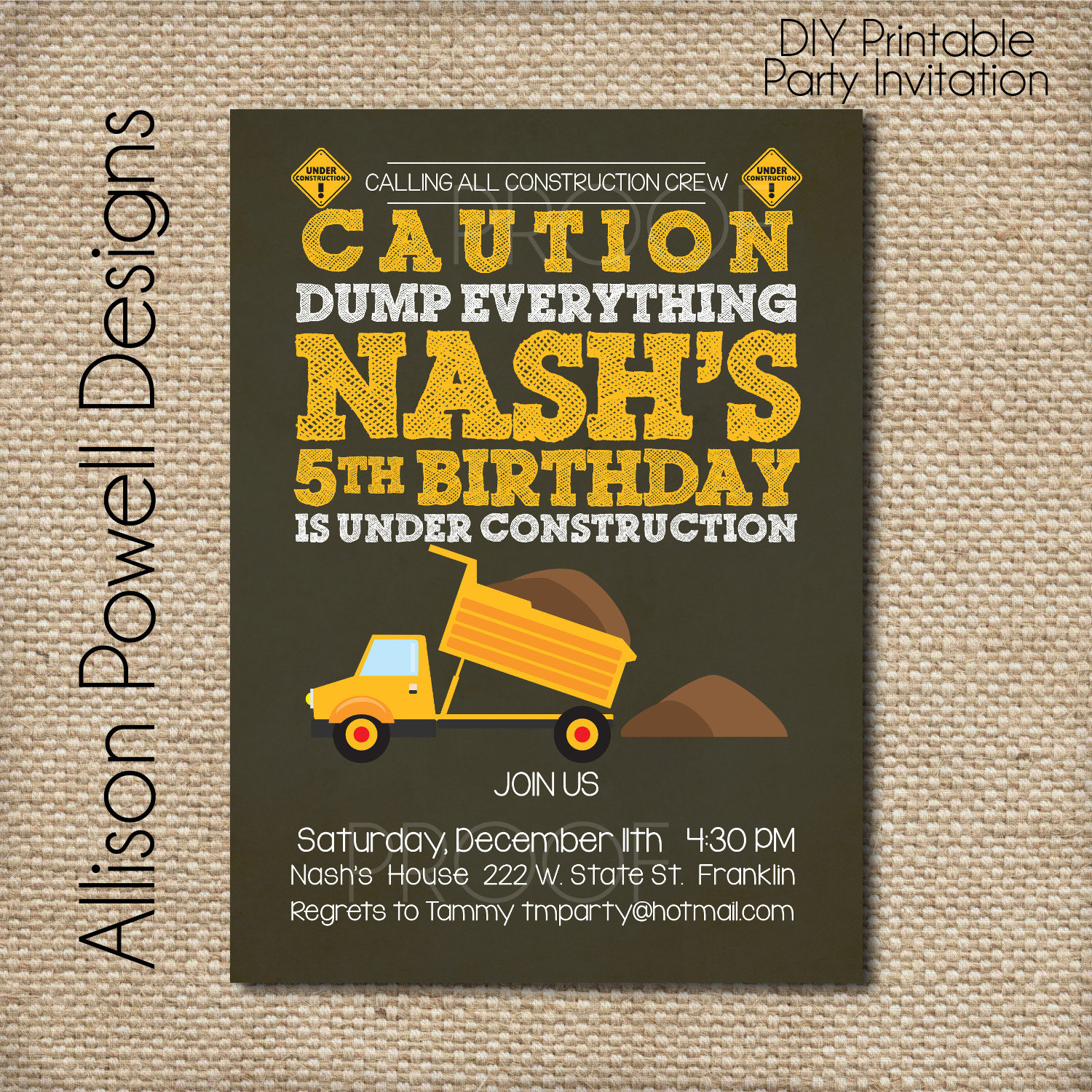 construction themed birthday party invitation wording ; construction-birthday-invitations-construction-birthday-invitations-11