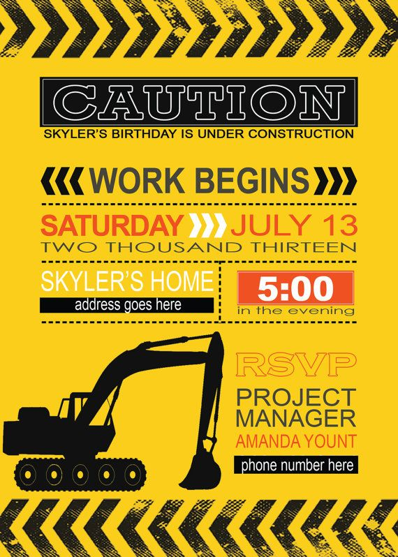 construction themed birthday party invitation wording ; construction-party-invitation-templates-best-25-construction-invitations-ideas-on-pinterest-templates