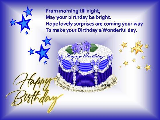 convey birthday wishes message ; 305561
