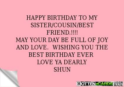 cousins birthday greeting messages ; best-message-birthday-wishes-for-my-cousin