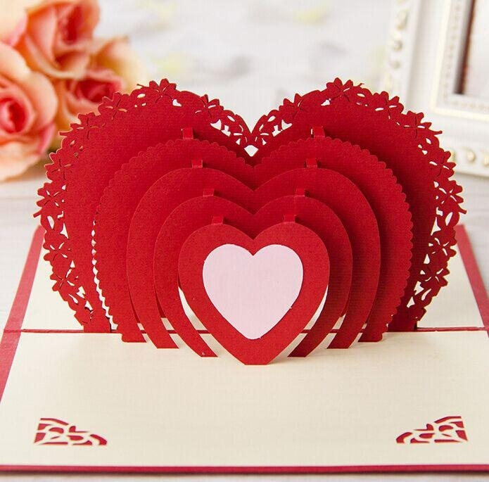 creative birthday greeting cards design ; i-love-you-red-heart-design-crafts-creative-3d-pop-up-birthday-within-birthday-card-design-for-lover