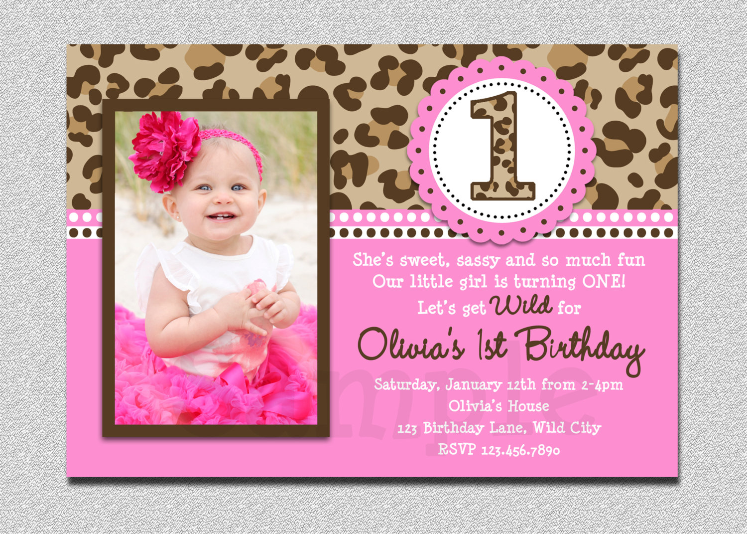 cupcake themed birthday party invitation wording ; 1st-birthday-party-invitations-vfirst-birthday-invitations-cupcake-girl-polka-dot-digital-party-leopard-design-cards-printable