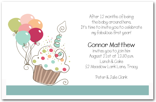 cupcake themed birthday party invitation wording ; boys-cupcake-balloons-birthday-invitation-cupcake-invitations-invitation-for-birthday