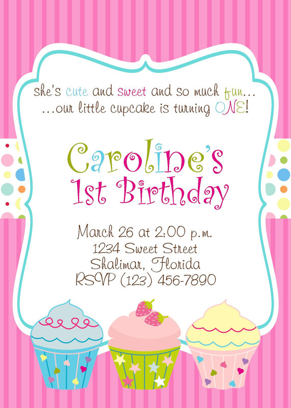 cupcake themed birthday party invitation wording ; ce2125b8290f28874a3614f8520f50f9
