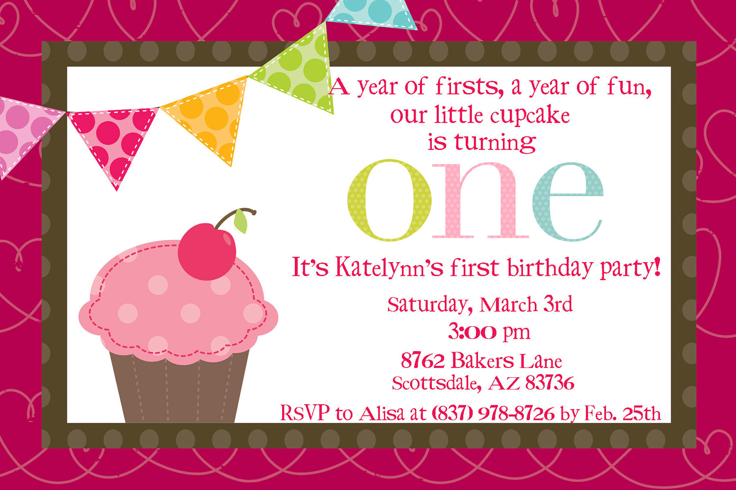 cupcake themed birthday party invitation wording ; cupcake-1st-birthday-invitations-ideas-about-how-to-design-Birthday-invitations-for-your-inspiration-8