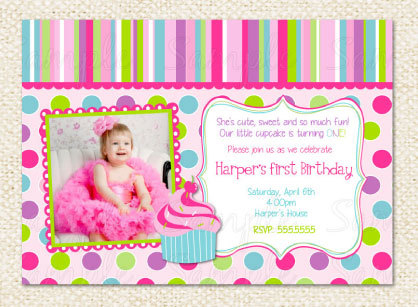 cupcake themed birthday party invitation wording ; cupcake-invitations-1st-birthday-How-To-Make-Your-Own-Birthday-Invitations-Looks-Interesting-1