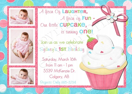 cupcake themed birthday party invitation wording ; db33ce409e22570b15f16c41e7866a01