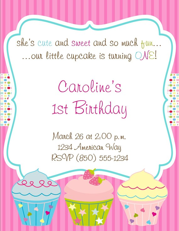 cupcake themed birthday party invitation wording ; e66bf2d4b53509eb7570c28637e856c8