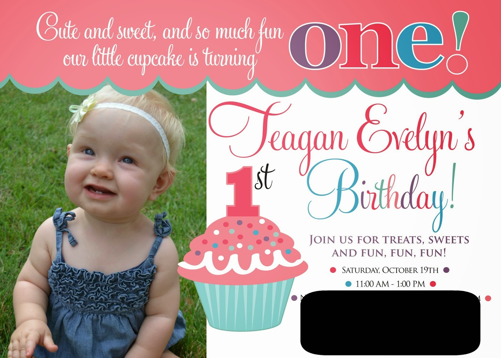 cupcake themed birthday party invitation wording ; invite+edited