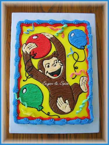 Fantastic Curious George Birthday Sheet Cake Best Happy Birthday Wishes Personalised Birthday Cards Paralily Jamesorg