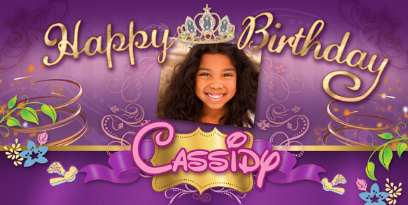 custom birthday banners with photo ; Entangled-Princess-Birthday-Banner-with-photo-LG