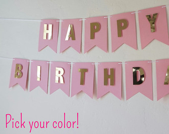 custom birthday banners with photo ; il_340x270
