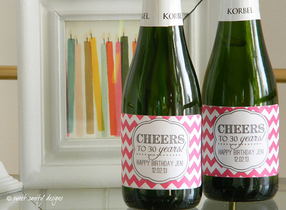 custom birthday labels ; custom-champagne-bottle-labels-cheers-to-the-years-birthday-mini-champagne-bottle-labels