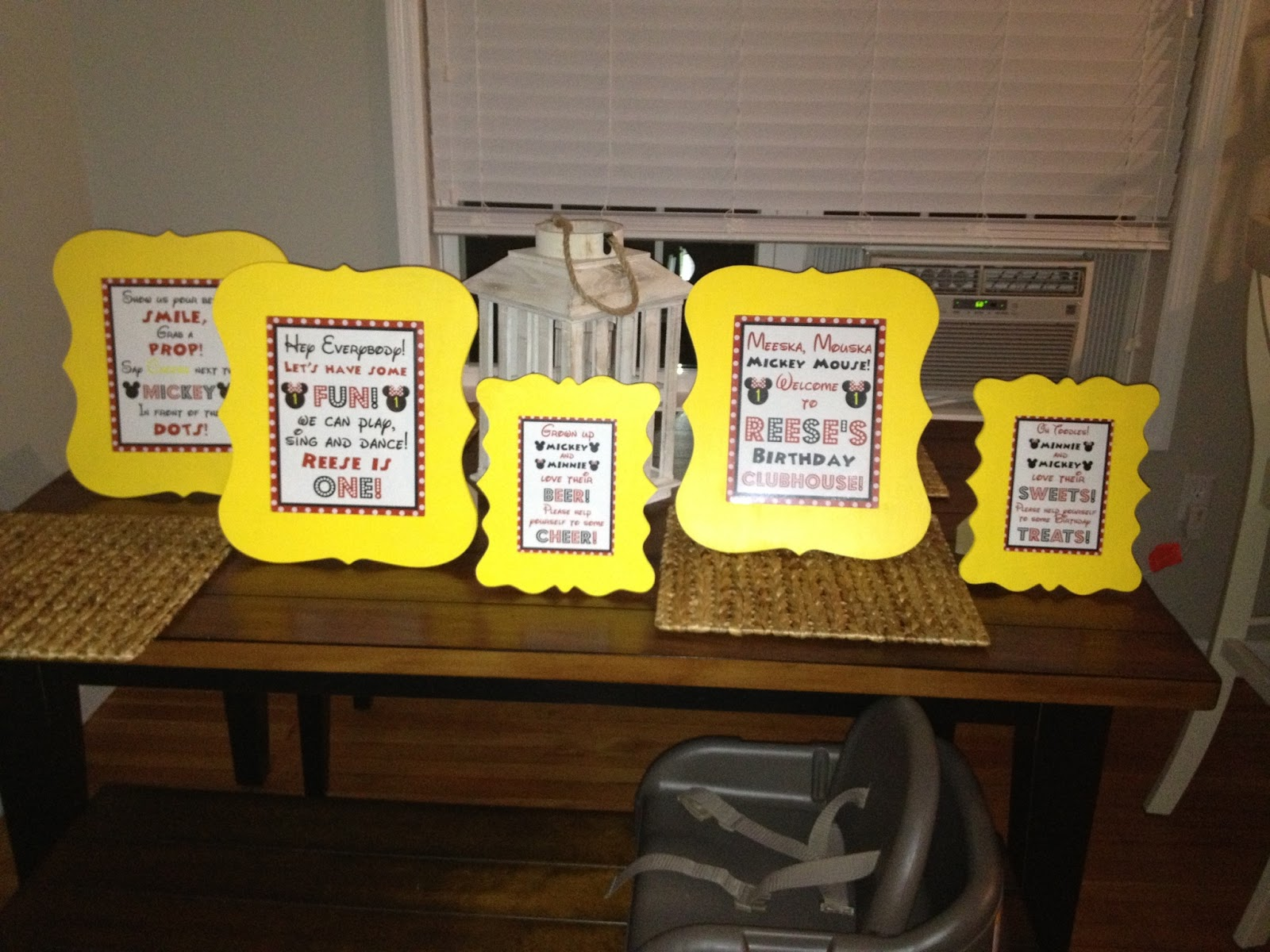 custom birthday signs ; Mickey+Signs