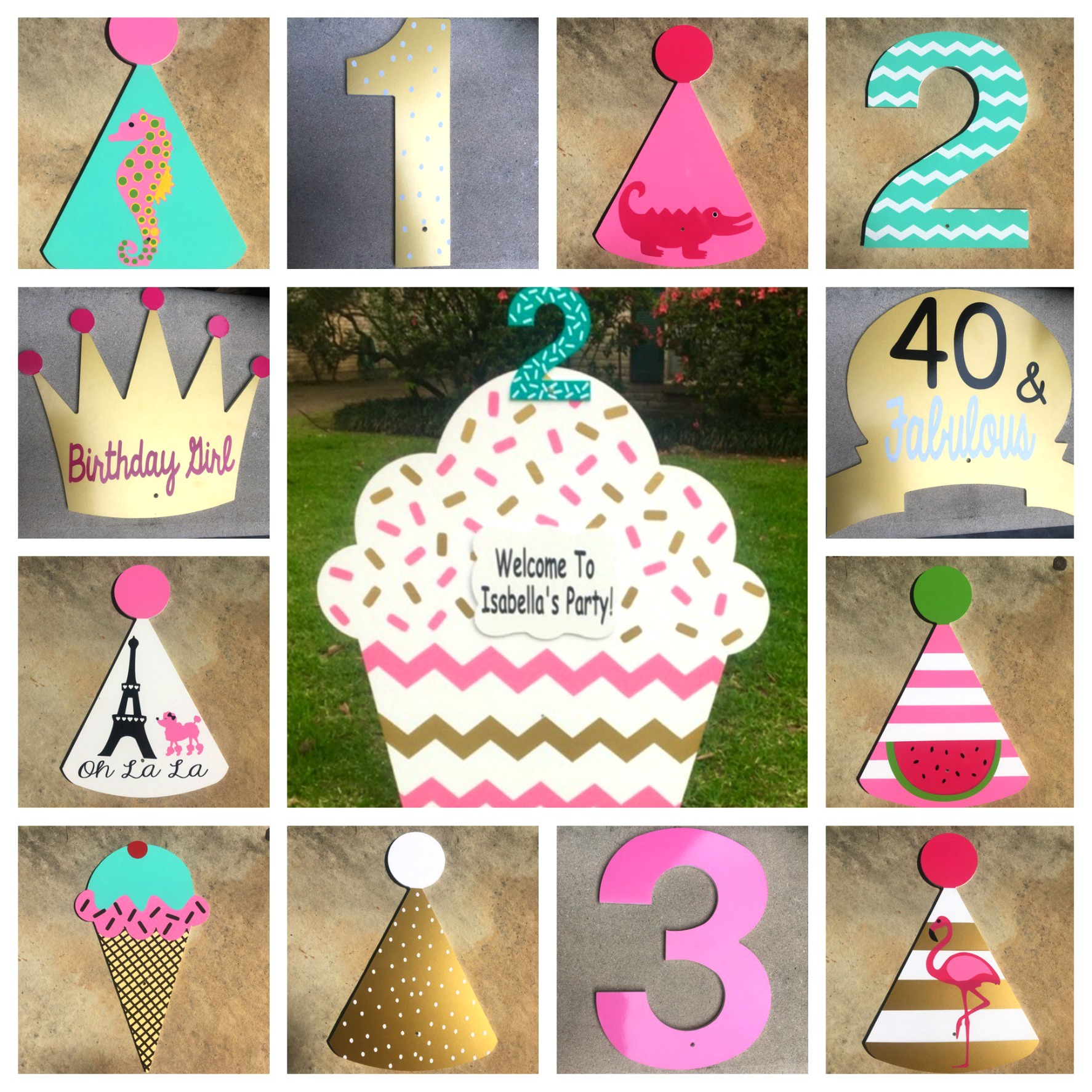 custom birthday signs ; custom2aa