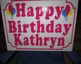 custom birthday signs ; il_340x270