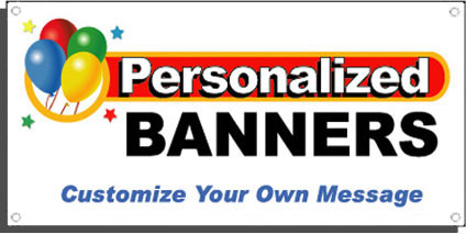custom birthday signs ; personalized-banners