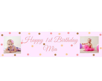 custom made birthday banners with photo ; il_340x270