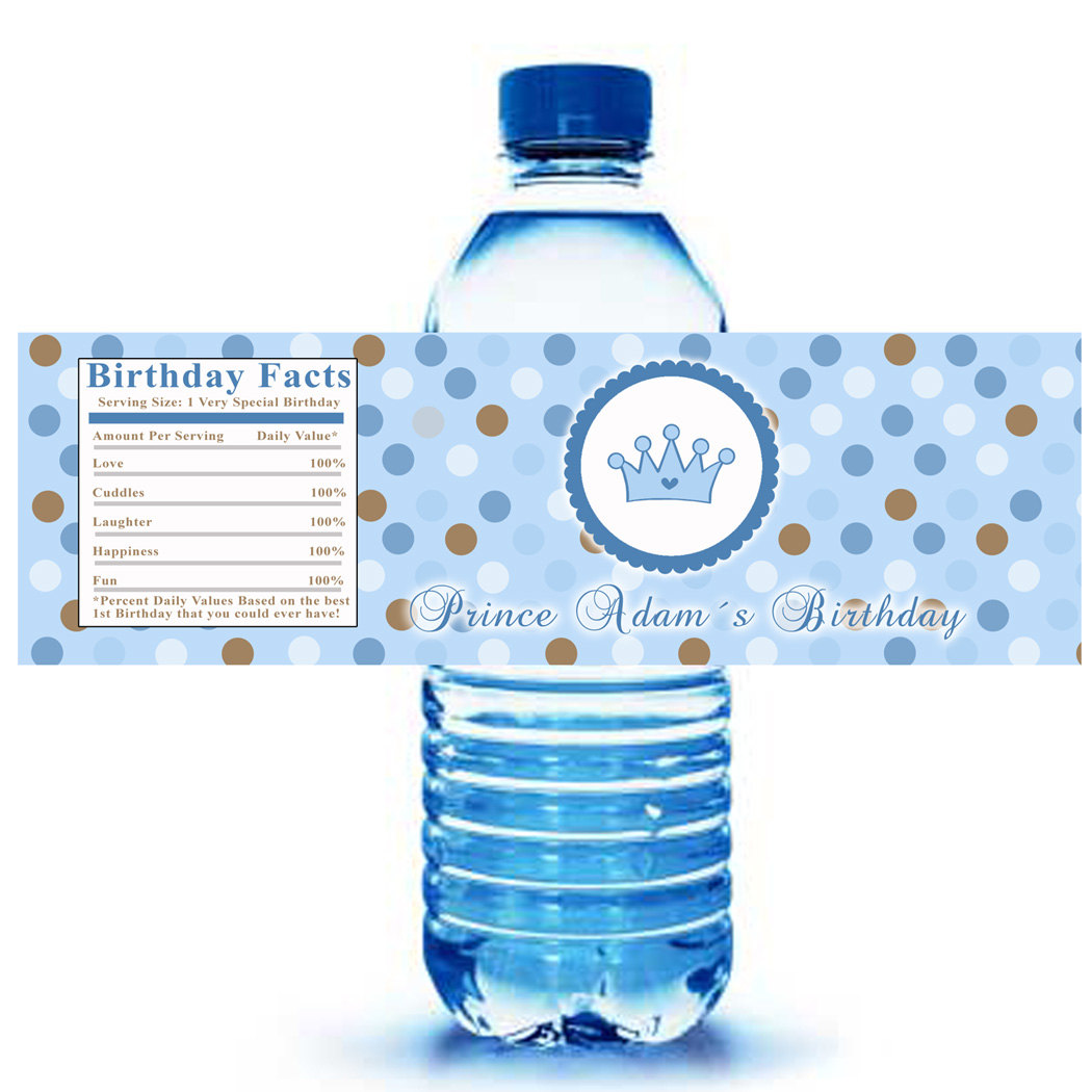 custom water bottle labels birthday ; 2e6466be6c2983be8c208fb6b086a61a