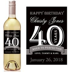 custom wine bottle labels birthday ; 2373f7242d19d1e063e60ae56e1d287f--personalized-wine-labels-forty