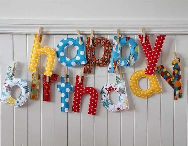 customized birthday banner with picture ; custom-birthday-banner-fabric-happy-birthday-letters-with-pegs-in-customized-birthday-banners-600x467