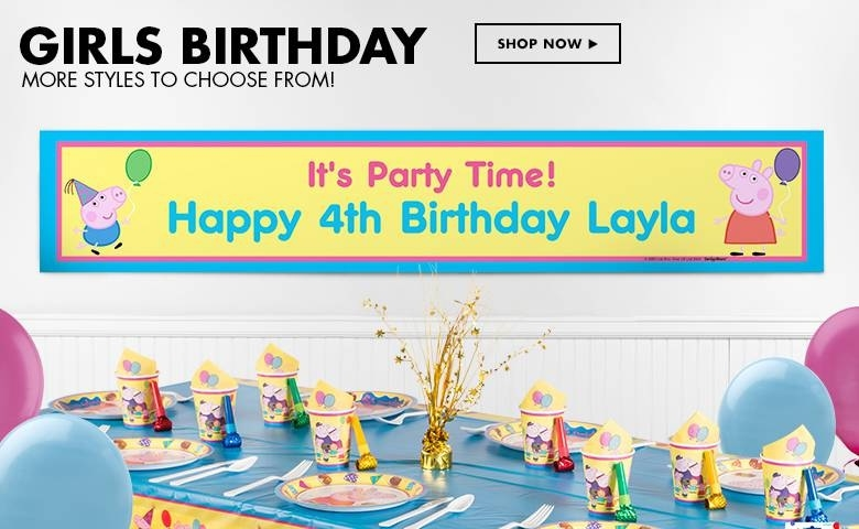customized birthday banner with picture ; custom-birthday-banners-party-banners-party-city-with-customized-birthday-banners