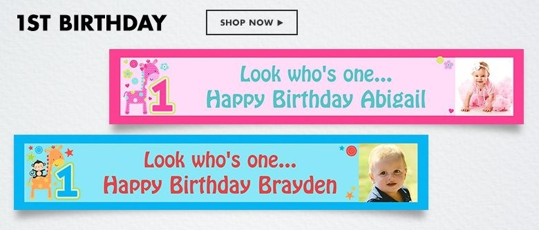 customized birthday banner with picture ; custom-birthday-banners-party-banners-party-city-with-regard-to-personalized-birthday-banner