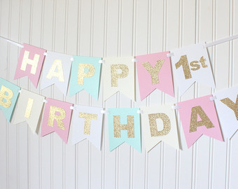 customized birthday banner with picture ; il_340x270