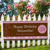 customized birthday banners with photo ; 8640-TN