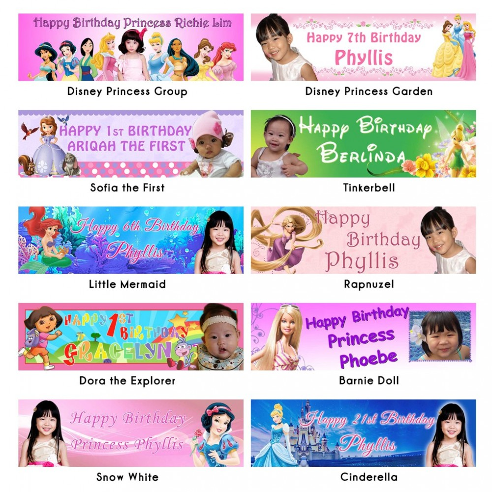 customized birthday banners with photo ; personalized-themed-photo-banner