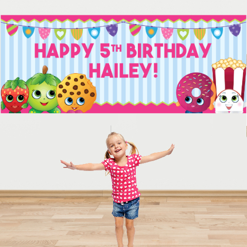 customized birthday banners with photo ; shopkins%2520banner