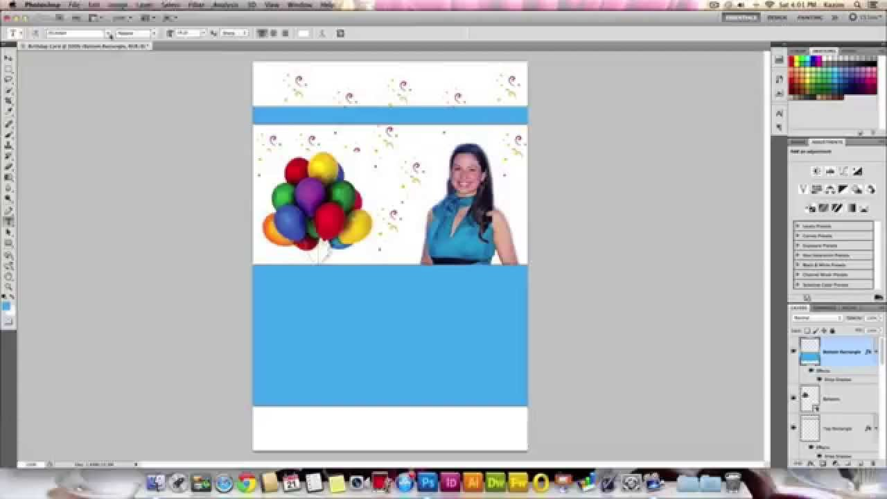 design a birthday card in photoshop ; maxresdefault