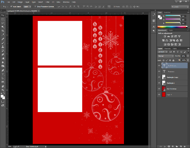design a birthday card in photoshop ; photoshop-custom-greeting-cards