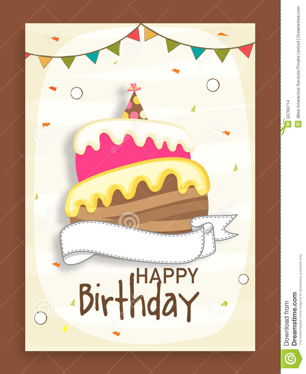 design an invitation card for your birthday party ; birthday-party-celebration-invitation-card-design-beautiful-decorated-flags-cake-50769714